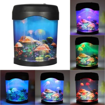 Harga LED Jellyfish Tank Mood Lamp Nightlight Light