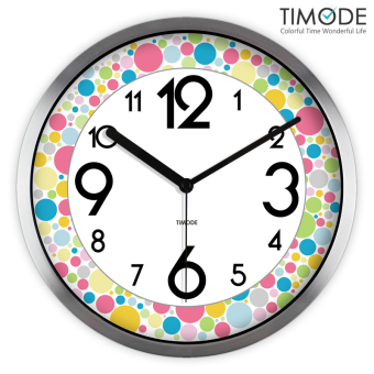 Harga Timode simple mute color ball wall clock