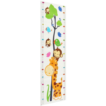 Harga Cartoon Children Kids Growth Height Chart Sticker PVC Wall Decal Giraffe Monkeys