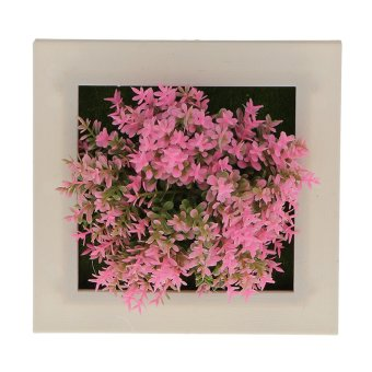 Harga BolehDeals 3D Artificial Succulent Flower Wall Hanging Sign Plaque Art Poster #13(Export)