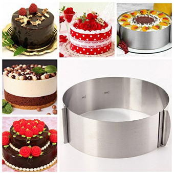 Bottomless stainless steel round mousse ring retractable cake mould mold baking tool