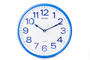 Harga Hoseki H-9141 Wall Clock (Blue White)