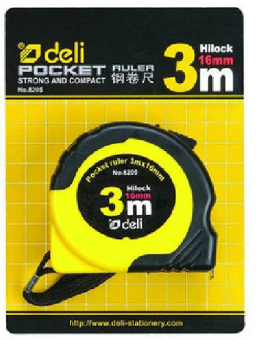 Harga Deli ruler series deli 8205 3m 3 m Tape Steel Tape deli tape