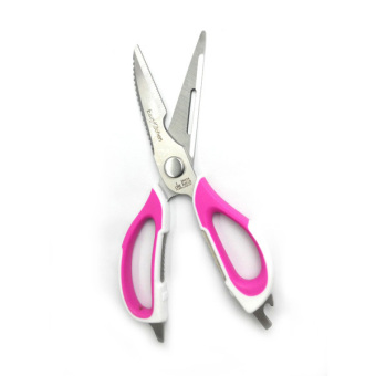 Harga Detachable Kitchen Scissors - Pink/White