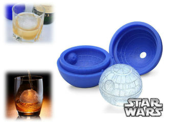 Harga 2016 Hot Creative Silicone Blue War Death Star Ball Ice Mold Pallet Desert Ball Mold DIY Cocktail Ice Making - intl