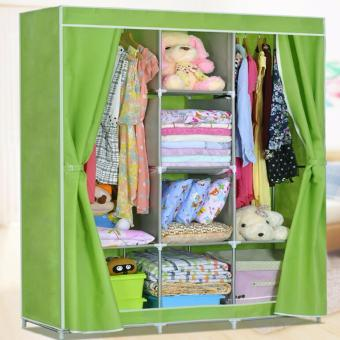 Harga DIY Canvas Wardrobe King Size (Green)