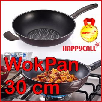 Harga Happycall Diamond Coating Wok Pan 30cm (Pearl Chocolate) - intl