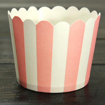 Harga 50x Christmas Xmas Cupcake Baking Paper Cup Muffin Cases Stripe Liners Party Pink - intl