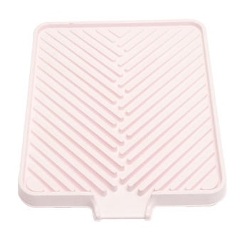 Harga Plastic Kitchen Drainer Tray Holder Dish Plate Sink Draining Board Drying Rack Pink - intl