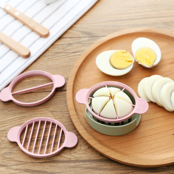 Harga Wheat straw triple cut egg multifunctional fancy cut egg slicer egg open egg artifact