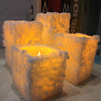 Harga Mimosifolia Flameless LED Electronic Simulation Candle lamp Romantic Wedding Hotel Home decoration Candle Birthday Party Candlelight Dinner snowflake 9CMX10CM 1PCS - intl
