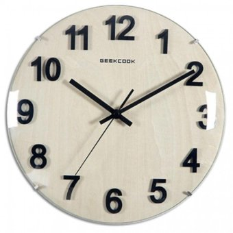Harga Wood Wall Clocks Living Room Decorative Round GK100044(Brown) - Intl