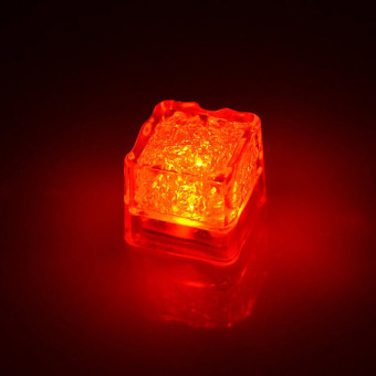 Harga 1pc LED Glowing Ice Cube LED Liquid Sensor Cubes Shape Light For Bars KTV Red