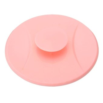 Harga new hot rubber PVC Basin Laundry Sink Bathtub stopper circle silicon bathroom leakage-proof stopper sink water plug Pink - intl