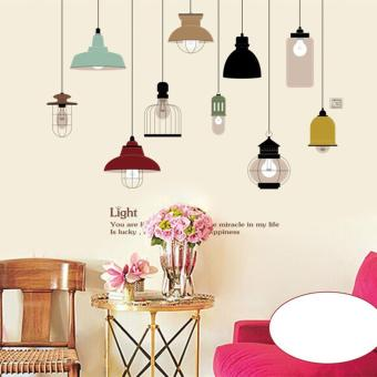 Harga Mimosifolia Color Chandelier Wall Sticker Decal Wallpaper PVC Mural Art House Decoration Home Picture Wall Paper for Adult Kids - intl