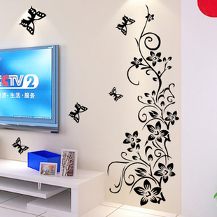 Harga Flower vine atmosphere living room TV wall sofa wall stickers