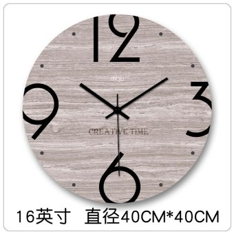 Scandinavian modern minimalist fashion creative personality living room wall clock mute quartz clock wall clock wood grain 627