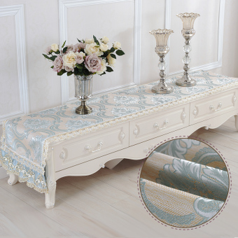Harga European tv cabinet cover table cloth tablecloth pad desk cloth tv cabinet tv cabinet towel cover dust cover shoe cover