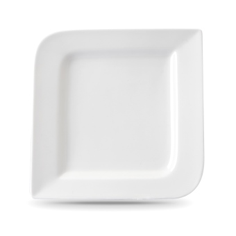 "Moderne 10"" Fantastic Square Dinner Plate, 6pcs (White)"