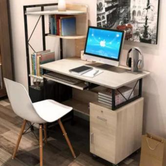 Harga Luxury office/home use computer desk white (D1-BFM)
