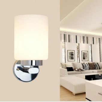 Harga 14W Aluminum Led Wall Lamp Bedside Hallway Bathroommirror Light (White Shell&Amp;Bright White Light) - intl