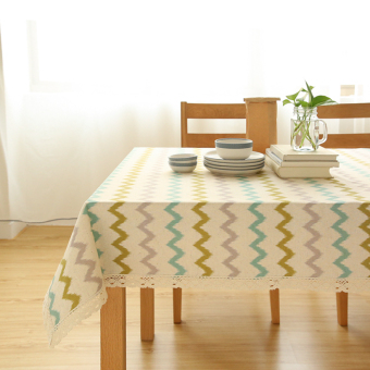 Harga Modern minimalist striped fabric linen tablecloth table mat coffee table cloth tablecloth bedside cabinet tv cabinet cover towel mat