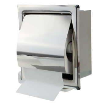 Harga In-wall Mounted Stainless Steel Bathroom Toilet Roll Tissue Paper Box Holder (EXPORT)