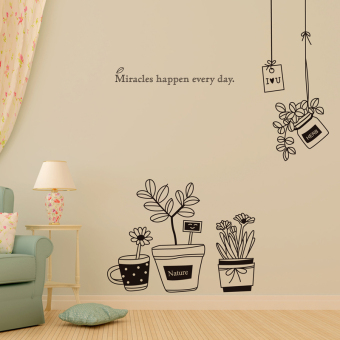 Harga Wall stickers living room bedroom wall wallpaper adhesive wallpaper sticker 7306 room decoration background wall dxh