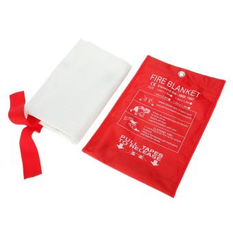 Harga Fiberglass Fire Blanket Fire Flame Retardant Emergency Survival Fire Shelter Safety Cover 39.3*39.3 Inches Tomnet - intl