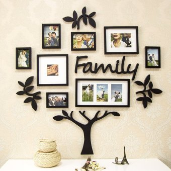 Harga European simple tree photo wall creative photo wall frame combination photo wall living room bedroom wall