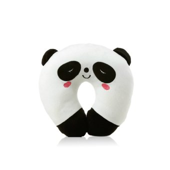 Harga Travel animal shape kawaii soft dolls Car Headrest U-shaped Plush Pillow panda (Intl)