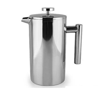 Harga French Press Coffee Tea Pot Brewer with filter Stainless Steel Double Wall 1000mL