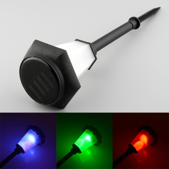 Solar Power 3-Color Changing Garden Landscape Stake Patio Lawn Bulbs Light