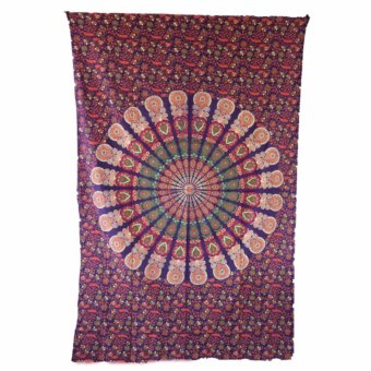 Harga Purple Bohemian Mandala Hippie Tapestries