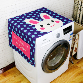 Harga Korean cute cat rabbit Linen cloth cover towel drum washing machine cover refrigerator dust cover bedside cabinet cartoon cover cloth