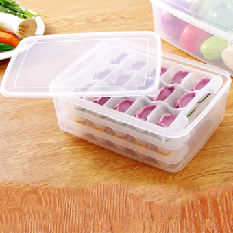 Creative kitchen practical cooking dumplings device mould box compartments storage kitchen supplies small tools home appliance