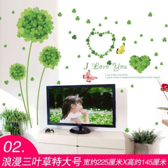 Harga Wall stickers sticker romantic bedroom living room sofa tv background wall decoration creative flower clover