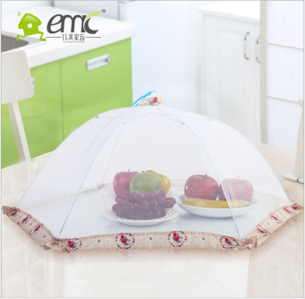 Harga Table food cover can be folding gauze cover summer anti-fly kitchen leftovers food cover round cover food cover large