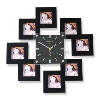 Harga Modern Cool living room mute art hanging table Wall Clock