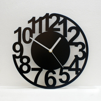 Harga Figure minimalist art of creative personality mute wall clock fashion quartz watches and clocks living room wall clock watch modern clock