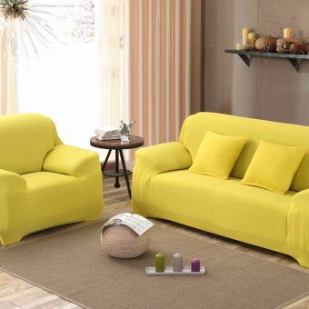 Harga Spandex Stretch Sofa Cover Elasticity Polyester Solid Colors Couch Cover Loveseat Sofa Furniture Cover - intl