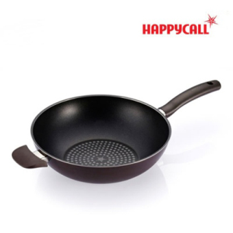 Harga [Happy call ] Diamond Porcelain Coating Wok Pan 30cm / Korea NO.01 Cook Ware / The best gift of housewives / Made in Korea