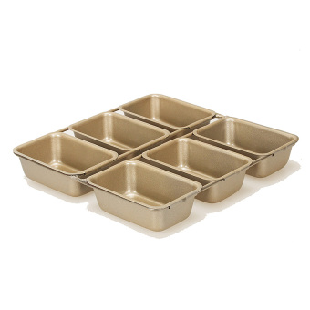 Harga Bakeware 6 even 21.7x20. 9cm brownie mold non stick baking tray cubes mould cake oven