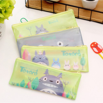 Harga 12 Pcs/lot Cartoon Zipper Pencil Bag My Neighbor Totoro School Pencil Case Child Kawaii Stationery Office Supplies