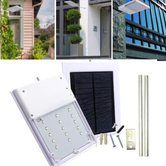 Harga Safety & Security Outdoor Work Lighting For House Garden Path LED Street Light Solar Powered Automatic Light Control Sensor Lamp - intl