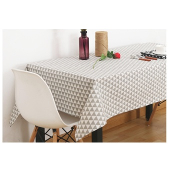 Harga Mimosifolia 140X140CM Simplicity Nordic Triangle Geometric Tablecloth TV Cabinet Table Cloth Rural Coffee Table Cloth Round Tablecloths Square Table Cotton Computer Table Decorative Tablecloths - intl