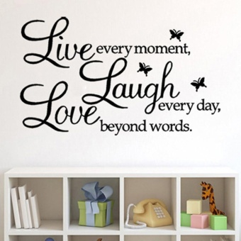Harga Live Laugh Love Removable Art Vinyl Mural Home Room Decor Wall Stickers - intl