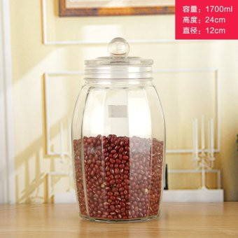 Harga Chi na glass storage jar sealed cans tea caddy kitchen bucket