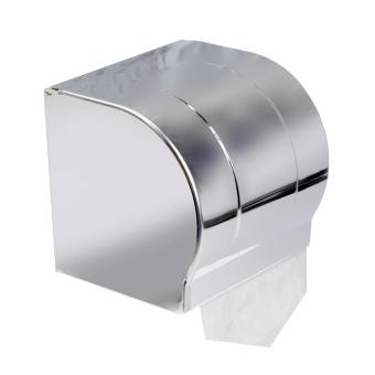 Harga Stainless Steel Chrome Bathroom Toilet Paper Holder Shelf Roll Tissue Box Wall Mounted Convenient - intl