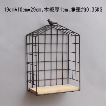 INS wrought iron mesh wall decorative storage shelf